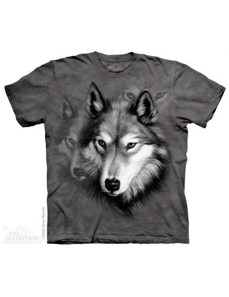 T-shirt motif loup wolf portrait