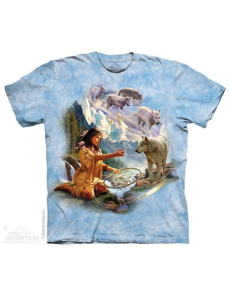Dreams Of The Wolf - Native american T-shirt - The Mountain