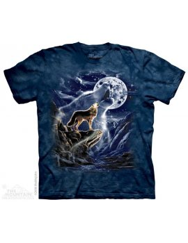 The mountain t-shirt wolf spirit wolf