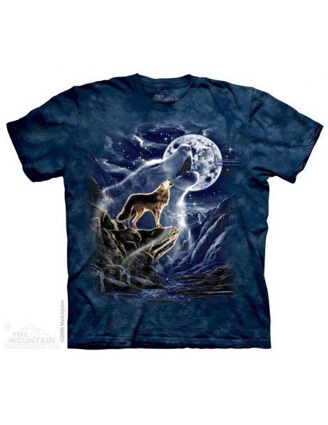 t-shirt motif loup marque MOUNTAIN