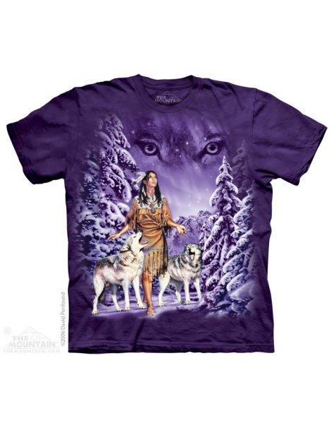 T-shirt MOUNTAIN motif indienne et loups