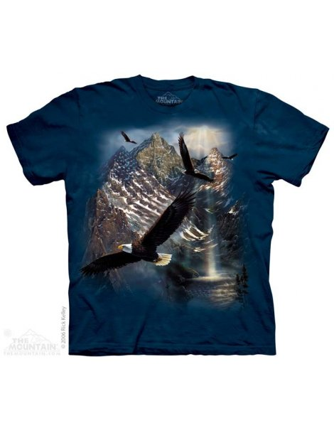 Reflection Of Freedom - T-shirt aigles - The mountain