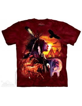 Indian Collage - T-shirt indien - The Mountain