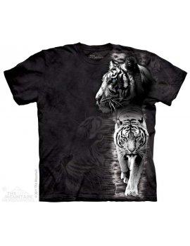 The mountain t-shirt - White tiger stripe