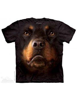 T-shirt The Mountain - Rottweiler face