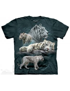 Tigre blanc Collage - T-shirt tigre - The Mountain