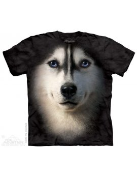 Siberian Face - Tshirt chien Husky - The Mountain