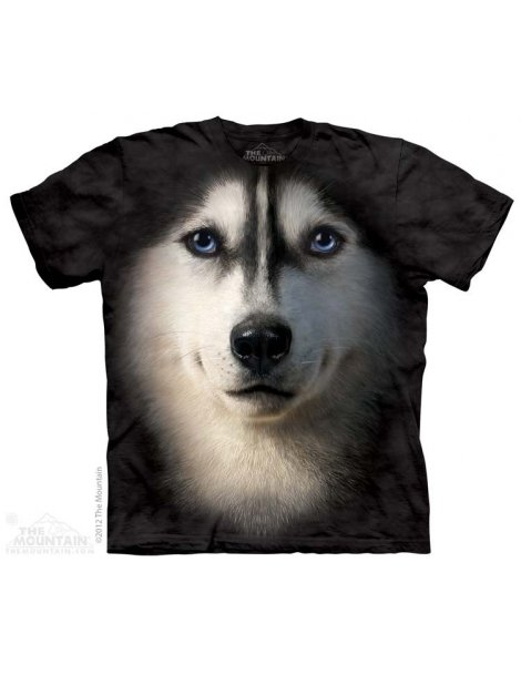 Husky Siberian t-shirt The mountain