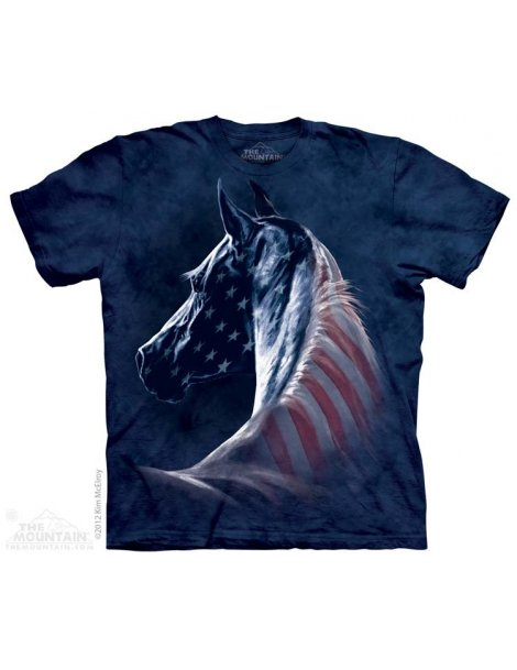 Patriotic Horse -T-shirt cheval -The Mountain