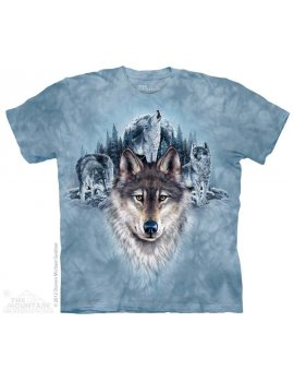 Blue Moon Wolves - T-shirt loup - The Mountain