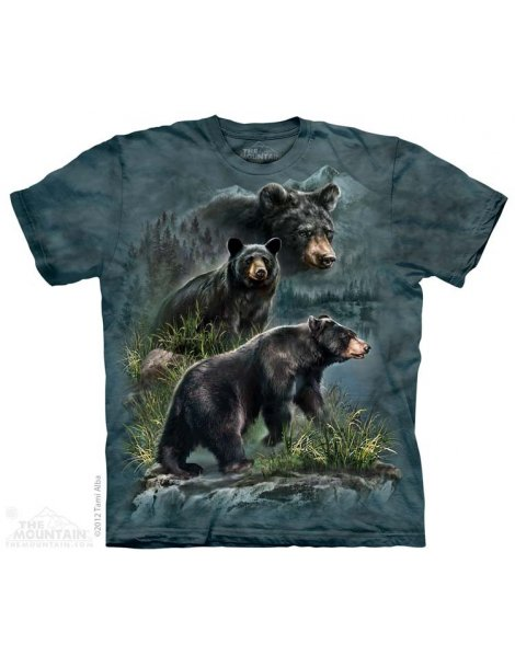 t-shirt famille d'ours brun