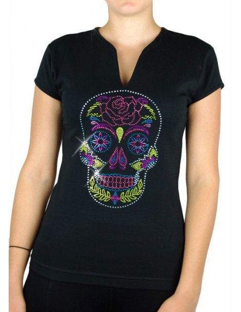 T-SHIRT MEXICAIN FLORAL