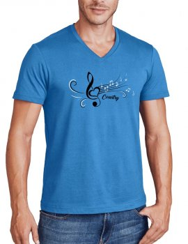 T-shirt country V neck