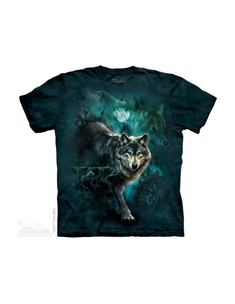 Night Wolves Collage - T-shirt enfant loup - The Mountain
