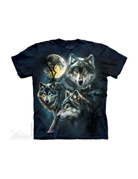 Moon Wolves Collage - T-shirt enfant loups - The Mountain