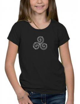 Triskel strass - T-shirt Fillette