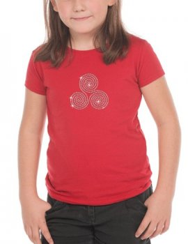 Triskel en strass plein - T-shirt Fillette