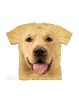 kid t-shirt dog golden retriever