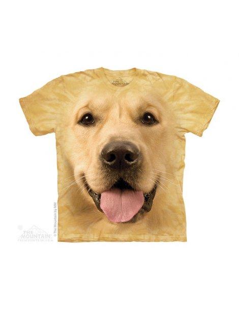 kid t-shirt dog golden retriever