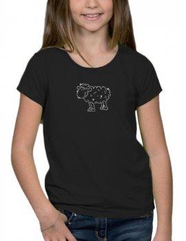 Mouton Strass - T-shirt Fillette