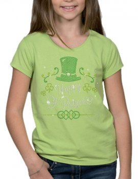 Happy ST Patrick - T-shirt Fillette