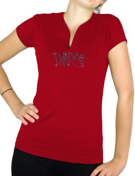 Dance rhinestone - Women's V-neck T-shirt
