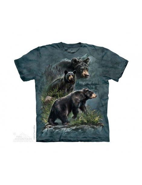 Three Black Bears - T-shirt ours enfant - The Mountain