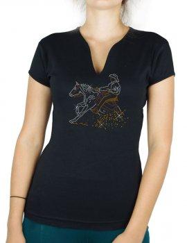 Reining - T-shirt femme Col V
