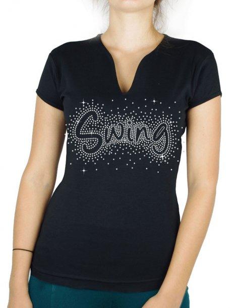 splash Swing - Women's V-Neck T-shirt