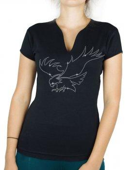 Aigle en chasse - T-shirt femme Col V