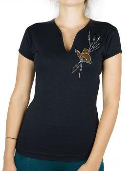 Chapeau Festif - T-shirt femme Col V