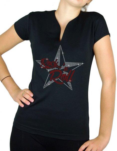 Etoile Nautique Rock'n Roll - T-shirt femme Col V