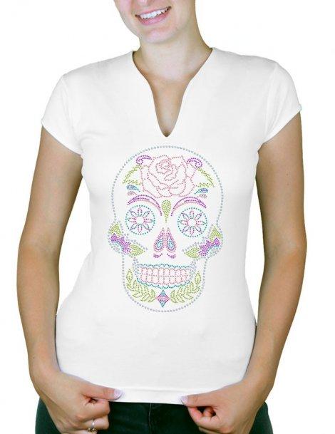 Crane Mexicain - T-shirt femme Col V