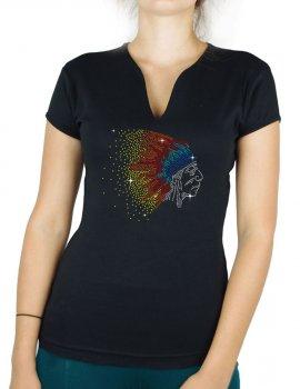 Chef Indien - T-shirt femme Col V