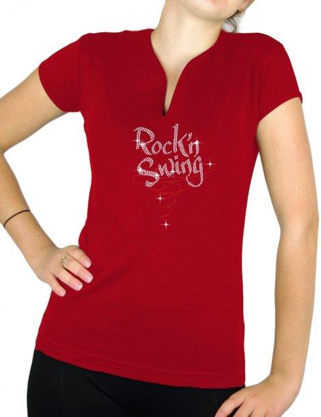 Rock'n Swing Spirale - T-shirt femme Col V