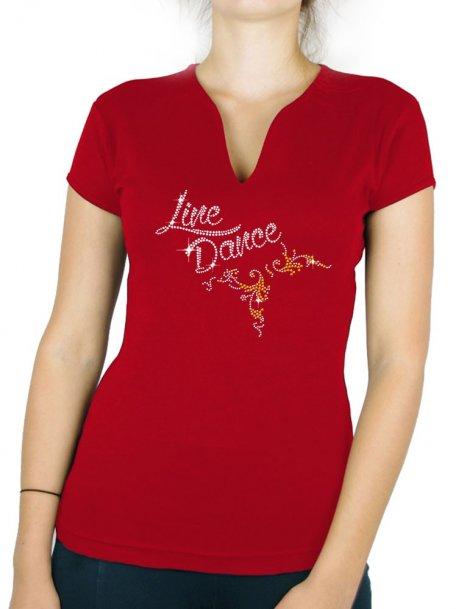 Line Dance Arabesque - T-shirt femme Col V