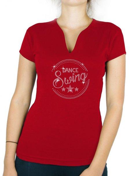 Macaron Dance Swing - T-shirt femme Col V