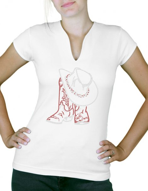 t-shirt strass tiags country