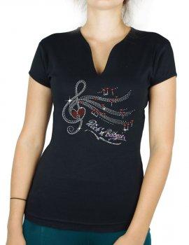 Clé de Sol Rock'n Boogie - T-shirt femme Col V