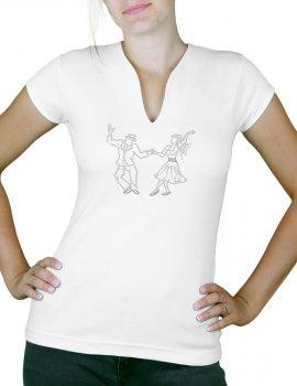 Danseurs Swing - T-shirt femme Col V