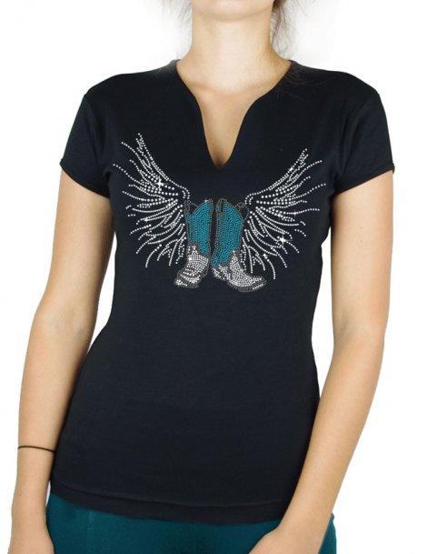Bottes Ailées - T-shirt femme Col V