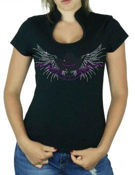 Chapeau Ailés - T-shirt femme Col Omega
