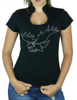 Aigle en Chasse - T-shirt femme Col Omega