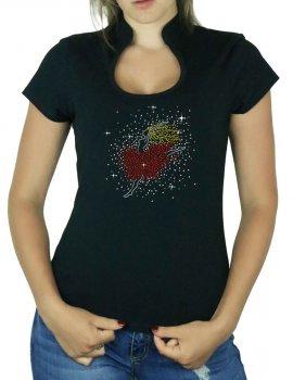 Petite Danseuse - T-shirt femme Col Omega