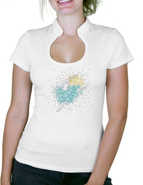 Danseuse - T-shirt femme Col Omega