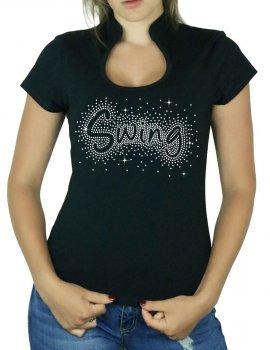 Swing éclaté - T-shirt femme Col Omega