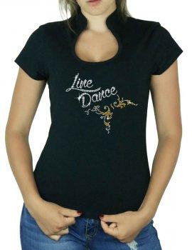 Line Dance Arabesque - T-shirt femme Col Omega