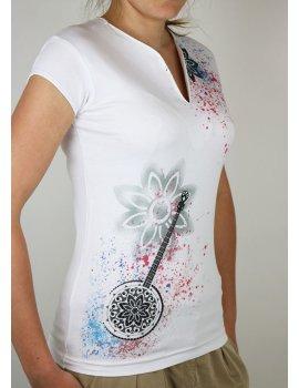 Splash peinture - Banjo fleuri - Col V