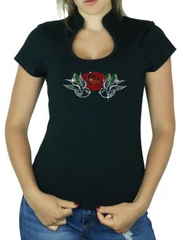 Swallows & Rose - Women's Omega Col T-shirt