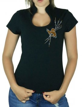 Chapeau Festif - T-shirt femme Col Omega